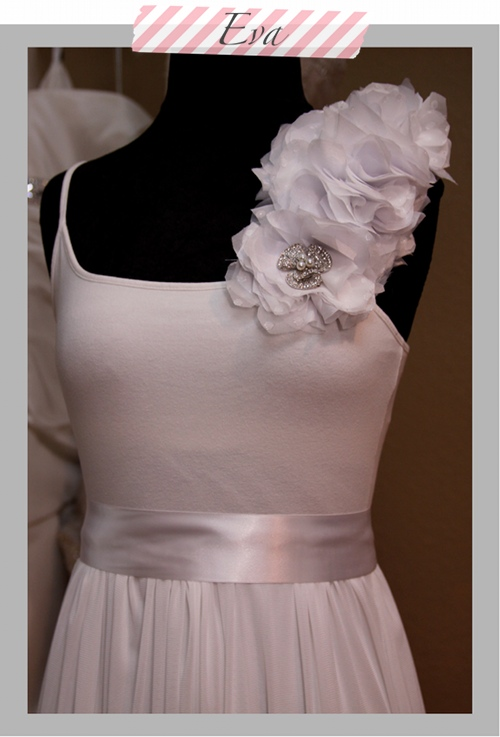Fabric Flower Adornment for the EVA Wedding Gown |