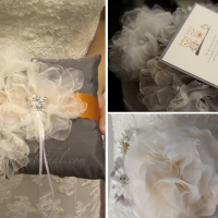 Custom Bridal Sash & Ring Bearer Pillow {Dr. JV}