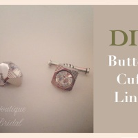 DIY Cuff Links from Buttons: {EVAN} Cuff Links V.2&3