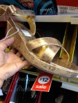 I like platforms and that it is gold but wanted something with heels...nice price btw but next...