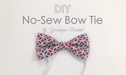Diy no sew bow tie francescas bow tie bash pinterest1 pronofoot35fo Choice Image