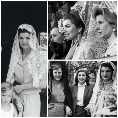 jackie kennedy in mantilla veil