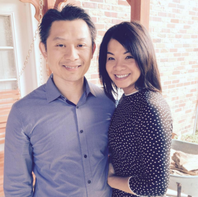 Hang with her husband Deacon Cuong.