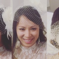 How to wear a Birdcage Veil 3 Different Styles : Kelly & Chris' Surprise in Vegas