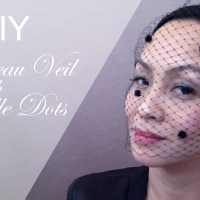 DIY Bandeau Veil with Chenille Dots : Happy Friday!