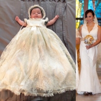 Upcycle a Wedding Gown into a Baptismal Dress : Eva M.