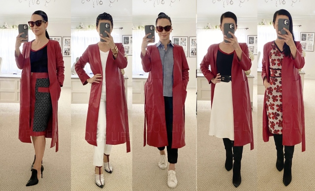 red cardigan outfits